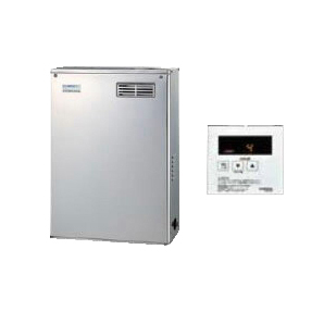 UIB-NX37R-MS コロナ 石油給湯機器 NXシリーズ(貯湯式) 給湯専用タイプ UIBシリーズ 据置型 36.2kW 屋外設置型 前面排気 シンプルリモコン付属 高級ステンレス外装 減圧逆止弁・圧力逃し弁必要 UIB-NX37R(MS)
