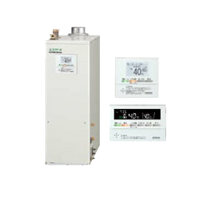 UKB-EF470FRX5-S(FF) コロナ 石油給湯機器 エコフィール EFシリーズ(水道直圧式) フルオートタイプ UKBシリーズ(給湯+追いだき)据置型 46.5kW 屋内設置型 強制給排気 ボイスリモコン付属