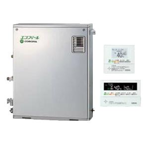 UKB-EF470FRX5-S-MSP コロナ 石油給湯機器 エコフィール EFシリーズ(水道直圧式) フルオートタイプ UKBシリーズ(給湯+追いだき)据置型 46.5kW 屋外設置型 前面排気 インターホンリモコン付属 高級ステンレス外装 UKB-EF470FRX5-S(MSP)