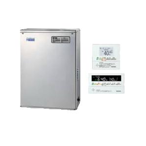 UKB-NE460HAP-S(MSD) コロナ 石油給湯機器 エコフィール NE-Hシリーズ(高圧力型貯湯式) オートタイプ UKBシリーズ(給湯+追いだき) 据置型 45.6kW 屋外設置型 前面排気 インターホンリモコン付属 高級ステンレス外装