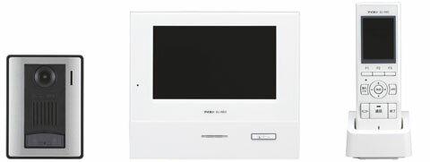 WJ-45アイホン タッチパネル式ワイヤレステレビドアホンセットカラーカメラ付玄関子機+カラーモニター付親機+カラーモニター付ワイヤレス子機ROCOタッチ7 最大設置台数:玄関4 室内5
