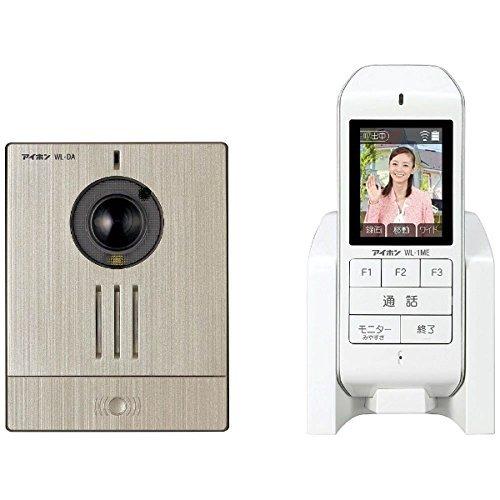 WL-11アイホン ワイヤレステレビドアホンセット カメラ付ワイヤレス玄関子機+モニター付ワイヤレス親機ワイド 最大設置台数:玄関1 室内1