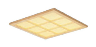 XL564WAUJLA9 一体型LEDベースライト 埋込型 Panasonic 木製格子タイプ 白色 スクエアタイプ FHP23形×4灯相当 和紙柄パネル 施設照明 XL564WAUJLA9 連続調光型 □350 パナソニック