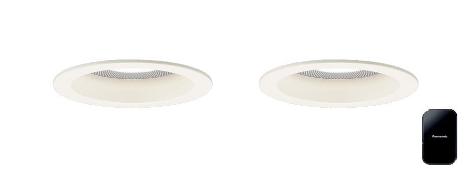 XLGB79012LB1 パナソニック Panasonic 照明器具 LEDダウンライト 電球色 美ルック 浅型10H 高気密SB形 ビーム角24度 集光タイプ 調光 Bluetooth対応 スピーカー内蔵 親器+子器+送信機セット 110Vダイクール電球100形1灯器具相当