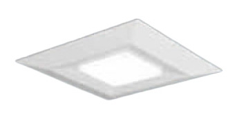 ●XLX110DELJLA9 パナソニック Panasonic 施設照明 一体型LEDベースライト 直付/埋込兼用 電球色 スクエア光源タイプ □720 連続調光 下面開放型 コンパクト形蛍光灯FHP45形4灯器具相当 12000lm