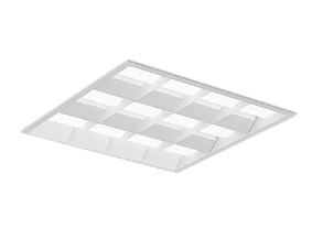 EFK9623W 遠藤照明 施設照明 LEDスクエアベースライト SDシリーズ 電源内蔵 埋込 白ルーバ形 600シリーズ FHP45W×4器具相当 14500lmタイプ 無線調光 昼白色 EFK9623W