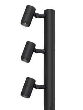 ERL8207HA 遠藤照明 施設照明 LEDアウトドアライト ポール灯 DUALシリーズ 12V IRCミニハロゲン球50W×3灯器具相当 D90×3 8°狭角配光 電球色 ERL8207HA