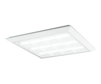 XL501028P4BLED-スクエア LEDユニット型ベースライトスタンダードタイプ 600シリーズ直付/埋込兼用型 ルーバー付 埋込穴680PWM調光 昼白色 FHP45W×3灯相当オーデリック 施設照明 オフィス照明 物販店照明 天井照明