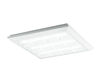 XL501038P3BLED-スクエア LEDユニット型ベースライトスタンダードタイプ 450シリーズ直付/埋込兼用型 ルーバー付 埋込穴500非調光 昼白色 FHP32W×3灯相当オーデリック 施設照明 オフィス照明 物販店照明 天井照明