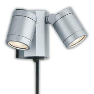 AU43206Lエクステリア LED一体型 スポットライト人感センサー付タイマー付ON-OFFタイプ 広角非調光 電球色 防雨型 白熱球60W×2灯相当コイズミ照明 照明器具 バルコニー ガレージ用照明