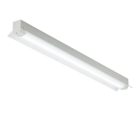 DOL-5386WW軒下用直管LEDベースライト LED交換可能直付 反射笠付 2500lmタイプ防雨形 天井付・壁付(横向き)兼用昼白色 非調光 Hf32W×1灯定格出力相当大光電機 照明器具 エントランス 共用廊下用 天井照明