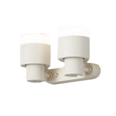 XAS1302LCE1LEDスポットライト LEDフラットランプ対応 壁面・天井面・据付取付兼用 直付 電球色プラスチックセード 拡散タイプ 調光不可 白熱電球60形2灯器具相当Panasonic 照明器具
