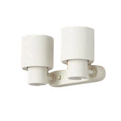 XAS1320LCB1LEDスポットライト LEDフラットランプ対応 壁面・天井面・据付取付兼用 直付 電球色プラスチックセード 集光タイプ 調光可能110Vダイクール電球60形2灯器具相当Panasonic 照明器具