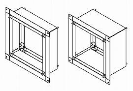 東芝 換気扇システム部材インテリア有圧換気扇専用薄壁取付枠KW-U25VP