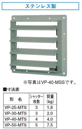 東芝 換気扇システム部材有圧換気扇ステンレス形用電気式シャッターVP-50-MTS