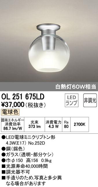 【9/4 20:00~9/11 1:59 エントリーとカードでポイント最大34倍】OL251675LDオーデリック 照明器具 LED小型シーリングライト 電球色 非調光 白熱灯60W相当 OL251675LD