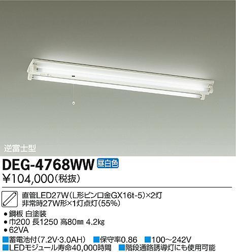 大光電機 施設照明LED非常灯 直付タイプ 逆富士型 昼白色DEG-4768WW