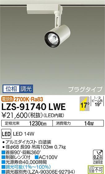 大光電機 施設照明LEDスポットライト イルコLZ1C 12Vダイクロハロゲン85W形60W相当COBタイプ 18°中角形 電球色 調光 プラグタイプLZS-91740LWE