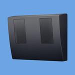 パナソニック Panasonic 電設資材スマートデザインシリーズ WHMボックス東京電力管内を除く全電力管内用 単相2線・単相(三相)3線用 2コ用・30~120A用 ブラックBQKN8325B