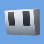 パナソニック Panasonic 電設資材スマートデザインシリーズ WHMボックス東京電力管内用 単相2線・単相(三相)3線用 2コ用・30~120A用 ホワイトシルバーBQKN8325SK