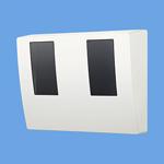 パナソニック Panasonic 電設資材スマートデザインシリーズ WHMボックス東京電力管内を除く全電力管内用 単相2線・単相(三相)3線用 2コ用・30~120A用 ホワイトBQKN8325W