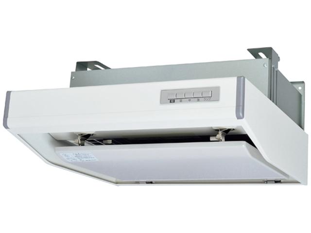 三菱電機 レンジフードファンフラットフード形 給気シャッター連動一体プラグ付BL規格排気型II型 ホワイト色 右排気 600mm幅V-602SHL2-BLR