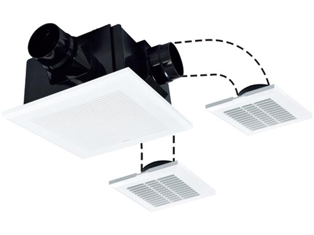 三菱電機 ダクト用換気扇天井埋込形 居間・廊下・事務所・店舗用(浴室・トイレ・洗面所)用24時間換気機能付 低騒音形 インテリア格子 二~三部屋換気タイプVD-18ZFLC10-CS