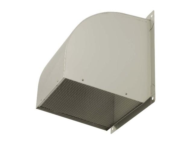 ●三菱電機 有圧換気扇用システム部材ウェザーカバー 排気形防火タイプ一般用 ステンレス製 防虫網標準装備W-80SDAM-A