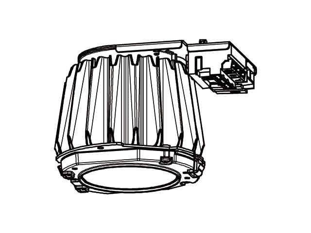 三菱電機 施設照明LEDベースダウンライト MCシリーズ ライトユニット連続調光 高演色タイプ クラス250 電球色EL-DU250LH AHZ