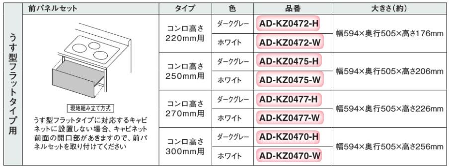 パナソニック Panasonic IHクッキングヒーター部材 前パネルセットAD-KZ0472-H
