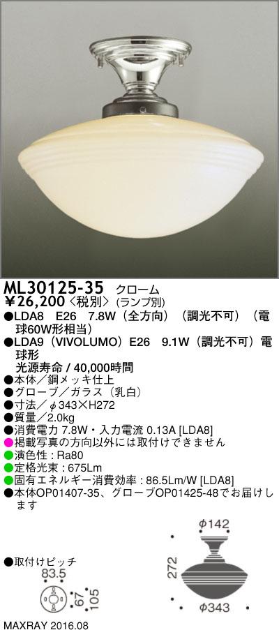 マックスレイ 照明器具装飾照明 NEW YORK LIGHT GALLERYLEDシーリングライト 本体ML30125-35