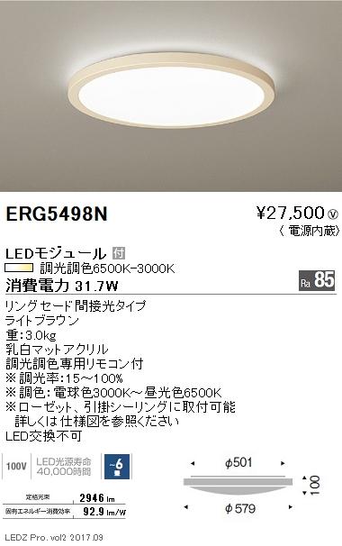 大きな割引 遠藤照明 施設照明LEDシーリングライト 遠藤照明 調光調色 調光調色 リングセード間接光タイプERG5498N【~6畳】, 【在庫あり】:f6924567 --- business.personalco5.dominiotemporario.com