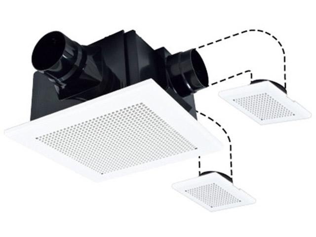 三菱電機 ダクト用換気扇 天井埋込形HEMS対応 サニタリー用 DCブラシレスモーター搭載24時間換気機能付 定風量タイプ浴室・トイレ・洗面所・居間 2~3部屋換気用VD-18ZFVC3-HM