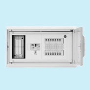 日東工業 HMB形ホーム分電盤 基本タイプ(ドア付・スチール製キャビネット)リミッタスペース付 露出・埋込共用型主幹3P75A 分岐14+2HMB13E7-142A