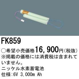 パナソニック Panasonic 施設照明部材防災照明 非常用照明器具 交換用ニッケル水素蓄電池FK859