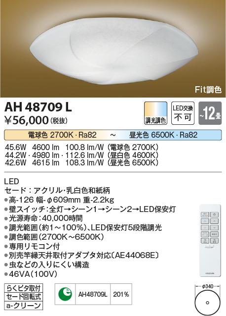 コイズミ照明 照明器具弧月 LED和風シーリングライト Fit調色調光調色タイプ LED44.2WAH48709L【~12畳】