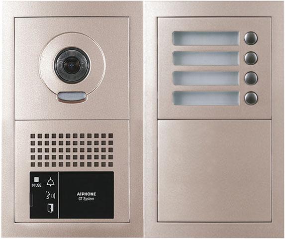 アイホン ビジネス向けインターホンテナントビル用インターホン GTシステム4局用フルキー式カメラ付集合玄関機GT-4DMA