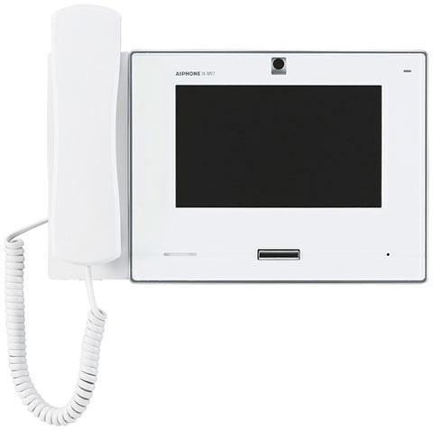 アイホン ビジネス向けインターホンIPネットワーク対応インターホン IXシステム7型モニター付インターホン端末受話器付 白色IX-MV7-HW