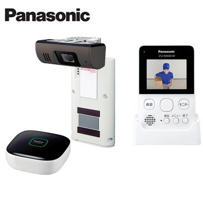 パナソニック Panasonic 配線不要ワイヤレス モニター付きドアカメラキットVS-HC400K-W