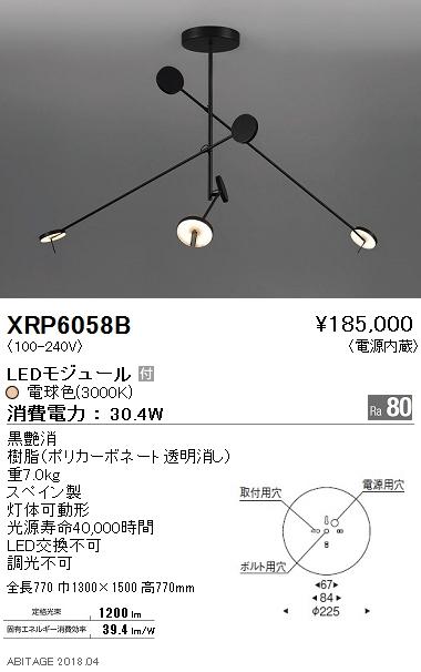 【格安saleスタート】 XRP6058BLEDペンダントライト AbitaExcel 電源内蔵要電気工事 電球色 非調光遠藤照明 照明器具 灯体可動形照明, 着物レンタル美装館 d053fca3