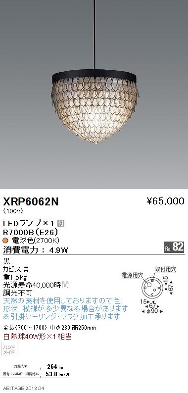遠藤照明 照明器具AbitaExcel LEDペンダントライト電球色 白熱球40W形×1相当XRP6062N