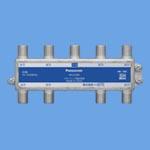 WCS5388分配器 UHF(地デジ)、BS、110度CS、CATV 4K・8K対応 1端子電流通過形 8分配器パナソニック Panasonic 電設資材 マルチメディア対応配線器具