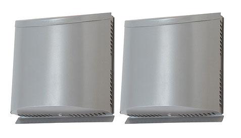 三菱電機 ロスナイ用システム部材壁掛2パイプ取付タイプ・ダクト用防音用フード ステンレス製 防虫網付P-100VSSQ5
