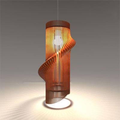 アジアン照明 おしゃれなデザインの照明器具木製シェード付き ペンダントライト 吊下げ 天井照明 リビング・ダイニング向けT-BLAND D845