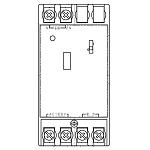WRT4740[多重伝送]フル2線式リモコン T/U付LED調光ユニット 光アドレス設定式 分電盤用Panasonic 電設資材 リモコン配線器具