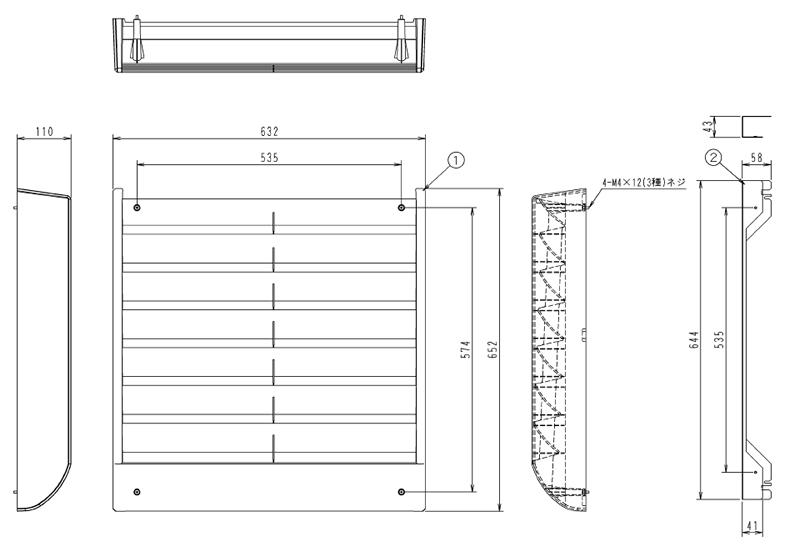 KPW5H160 ダイキン 業務用エアコン 風向調整板 部材