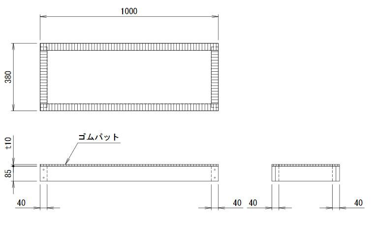 【照明器具やエアコンの設置工事も承ります 電設資材の激安総合ショップ】 NMZ-BA8A三菱電機 業務用エアコン 部材 床置形(P224形)用 木台 (ネミー株式会社製)