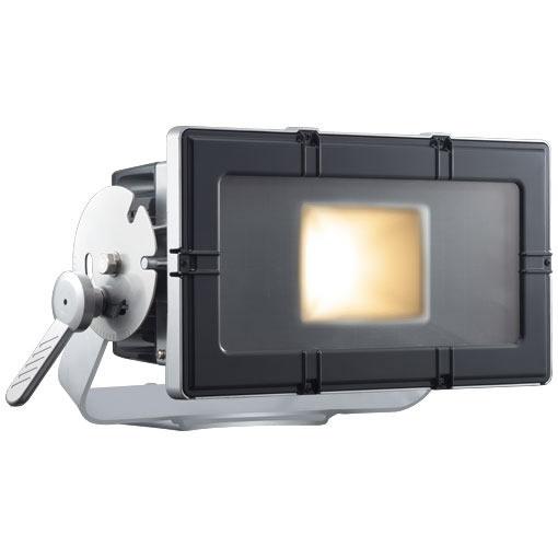 E35204W/LSAN8LED投光器 レディオック フラッド キューブ 210Wタイプ(水銀ランプ250W角形投光器×2台相当)台座付アーム 屋外・屋内用 電源ユニット別置 電球色タイプ岩崎電気 施設照明 エリア照明