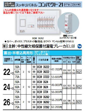 パナソニック Panasonic 電設資材住宅分電盤・分電盤スッキリパネル コンパクト21BQW37262