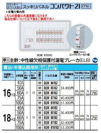 パナソニック Panasonic 電設資材住宅分電盤・分電盤スッキリパネル コンパクト21BQW810182